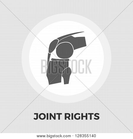Joint icon vector. Flat icon isolated on the white background. Editable EPS file. Vector illustration.