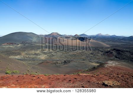 National Park Timanfaya on the island of Lanzarote Canary Islands Spain