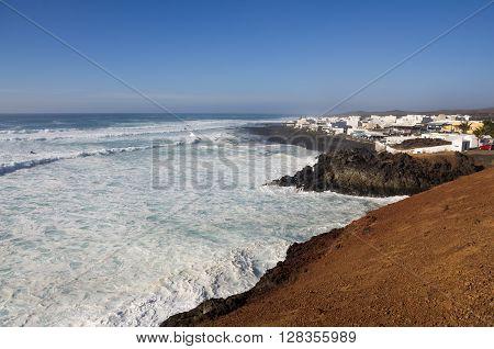 The village El Golfo on Lanzarote Canary islands Spain
