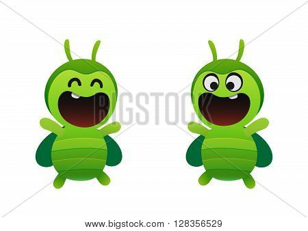 jolly green beetle smiling two types fun insect