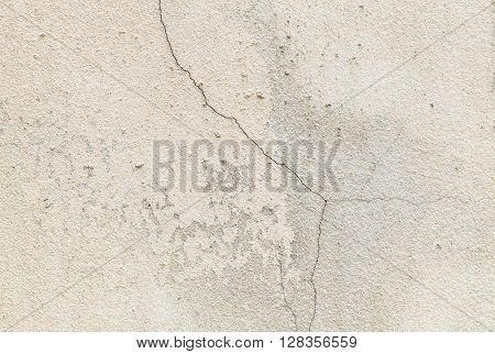 Closeup surface crack concrete wall texture background