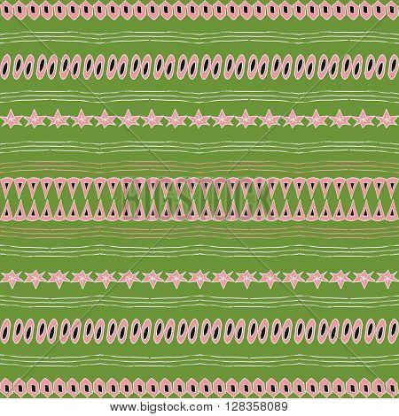 Primal seamless pattern. Vector illustration. Primal hand-drawn doodle pattern design for web mobile print and textile.