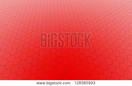 Hexagonal orange cell texture. Speaker grille. Fashion geometric design. Graphic style for wallpaper wrapping fabric apparel print production.