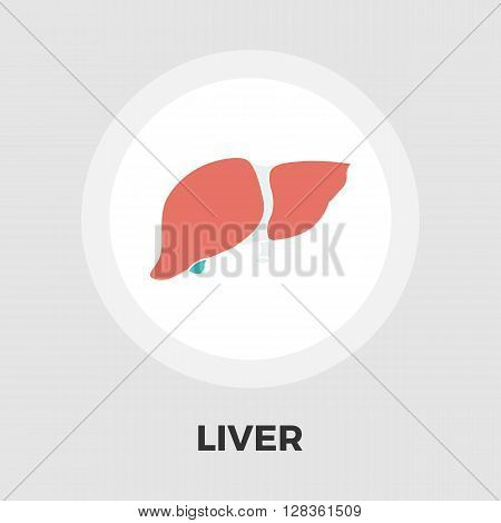 Liver icon vector. Flat icon isolated on the white background. Editable EPS file. Vector illustration.