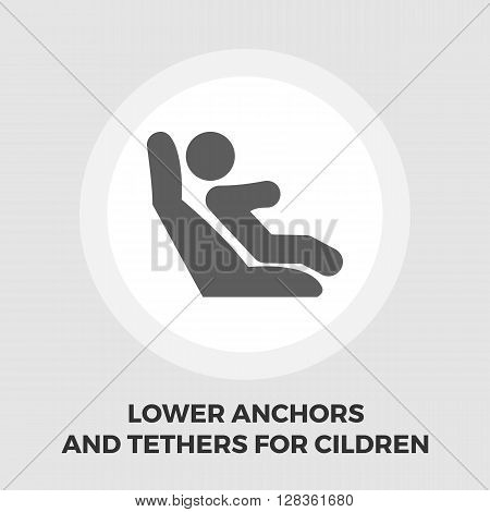 Lower anchors and tethers for children icon vector. Flat icon isolated on the white background. Editable EPS file. Vector illustration.