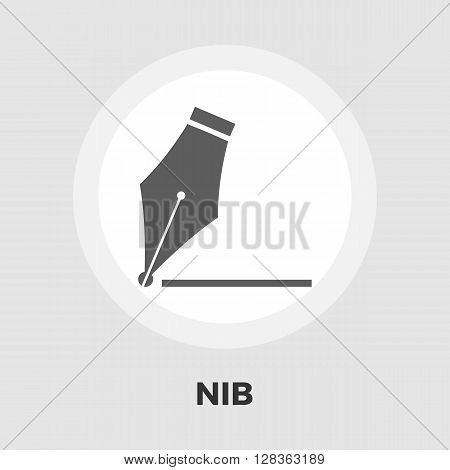 Nib icon vector. Flat icon isolated on the white background. Editable EPS file. Vector illustration.