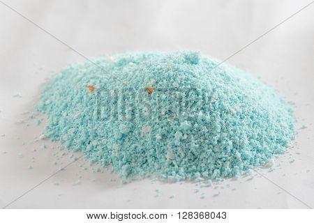 close up of heap of washing powder