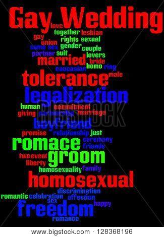 Gay Wedding, Word Cloud Concept 8