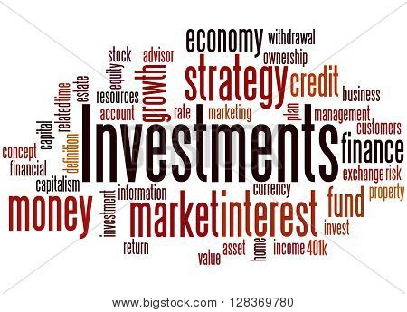 Investments, Word Cloud Concept
