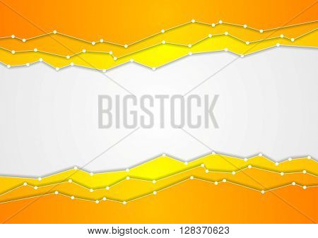 Abstract orange corporate tech background. Vector illustration