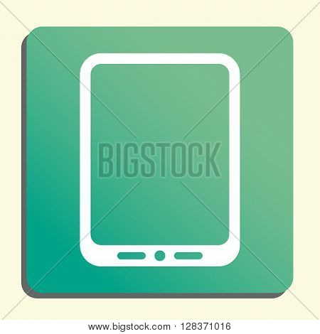 Tablet Icon In Vector Format. Premium Quality Tablet Symbol. Web Graphic Tablet Sign On Green Light