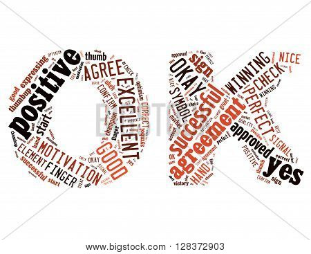 Ok Sign, Word Cloud Concept 3