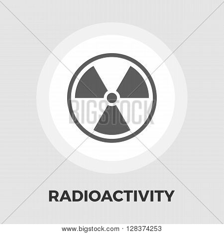 Radioactivity icon vector. Flat icon isolated on the white background. Editable EPS file. Vector illustration.