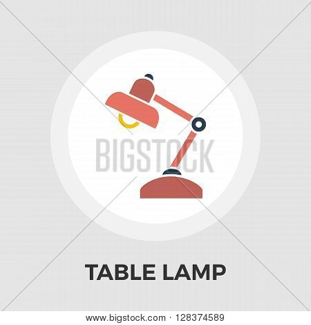 Reading-lamp icon vector. Flat icon isolated on the white background. Editable EPS file. Vector illustration.