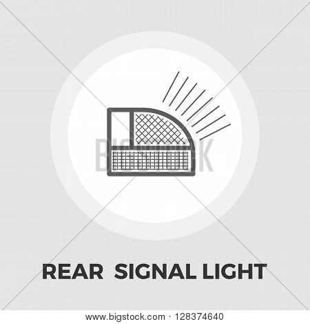 Rear signal light car icon vector. Flat icon isolated on the white background. Editable EPS file. Vector illustration.