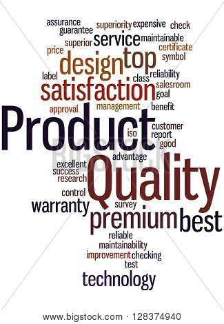 Product Quality, Word Cloud Concept