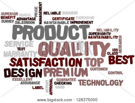 Product Quality, Word Cloud Concept 3