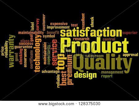 Product Quality, Word Cloud Concept 4