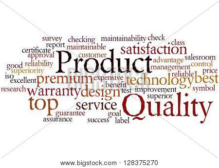 Product Quality, Word Cloud Concept 9