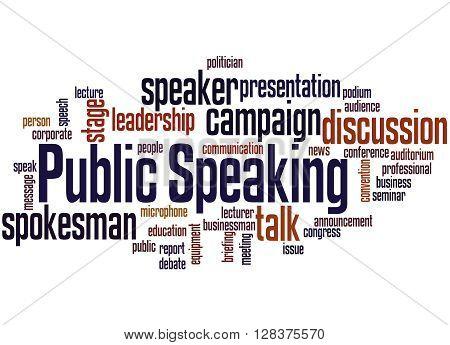 Public Speaking, Word Cloud Concept