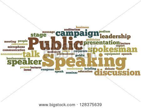 Public Speaking, Word Cloud Concept 3
