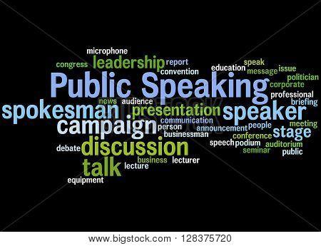 Public Speaking, Word Cloud Concept 4