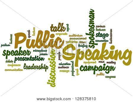 Public Speaking, Word Cloud Concept 7