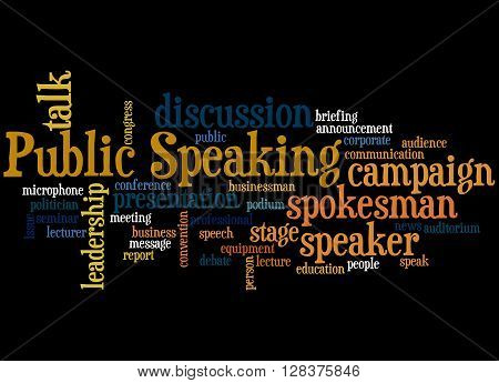 Public Speaking, Word Cloud Concept 8