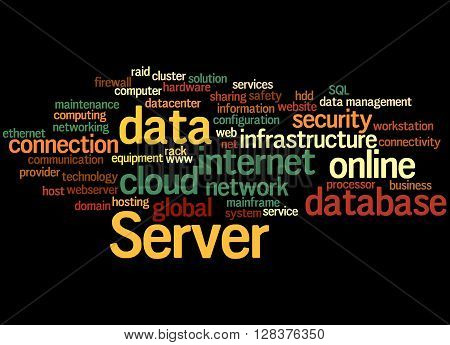 Server, Word Cloud Concept 2