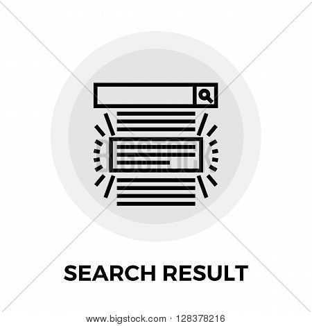 Search Result icon vector. Flat icon isolated on the white background. Editable EPS file. Vector illustration.