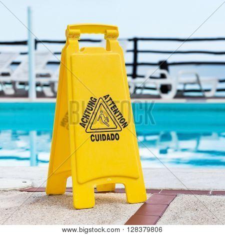 Slippery Floor Surface Attention Symbol