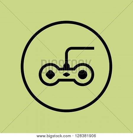Joystick Icon In Vector Format. Premium Quality Joystick Symbol. Web Graphic Joystick Sign On Green Circle Background.