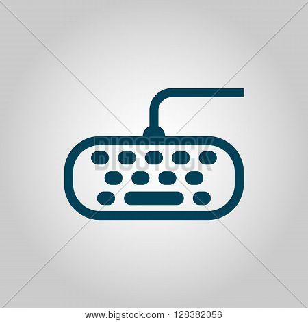 Keyboard Icon In Vector Format. Premium Quality Keyboard Symbol. Web Graphic Keyboard Sign On Grey B
