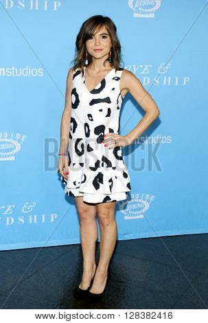 Christina Wren at the Los Angeles premiere of 'Love And Friendship' held at the DGA Theater in Hollywood, USA on May 3, 2016.