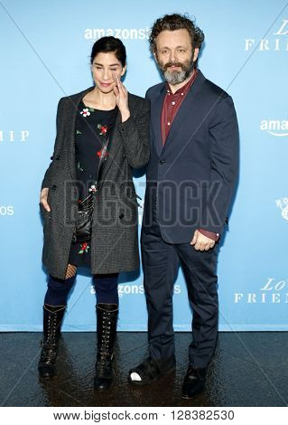 Sarah Silverman and Michael Sheen at the Los Angeles premiere of 'Love And Friendship' held at the DGA Theater in Hollywood, USA on May 3, 2016.