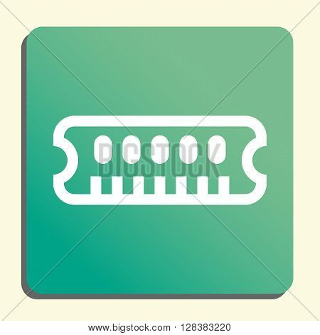 Ram Icon In Vector Format. Premium Quality Ram Symbol. Web Graphic Ram Sign On Green Light Backgroun