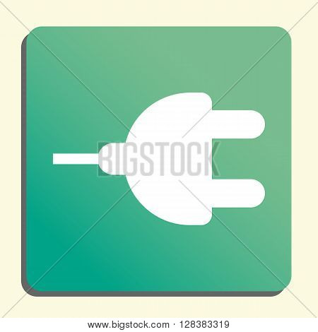 Plug Icon In Vector Format. Premium Quality Plug Symbol. Web Graphic Plug Sign On Green Light Backgr