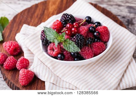 Berry on a white background