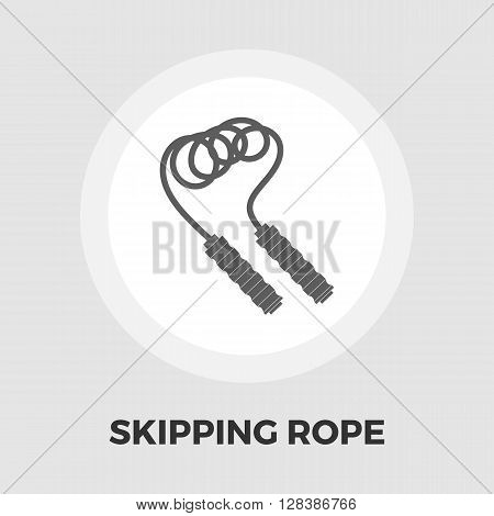 Skipping rope icon vector. Flat icon isolated on the white background. Editable EPS file. Vector illustration.