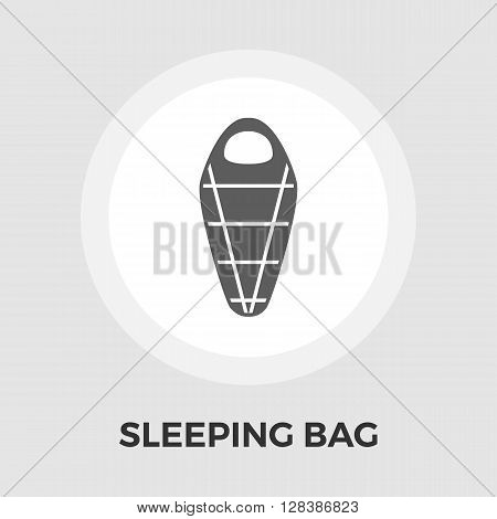 Sleeping bag icon vector. Flat icon isolated on the white background. Editable EPS file. Vector illustration.