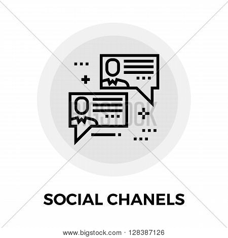 Social Chanels icon vector. Flat icon isolated on the white background. Editable EPS file. Vector illustration.