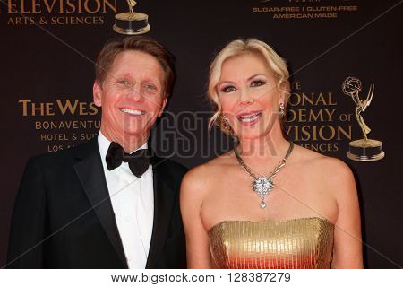 LOS ANGELES - MAY 1:  Bradley Bell, Katherine Kelly Lang at the 43rd Daytime Emmy Awards at the Westin Bonaventure Hotel  on May 1, 2016 in Los Angeles, CA