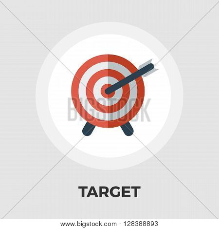 Target icon vector. Flat icon isolated on the white background. Editable EPS file. Vector illustration.