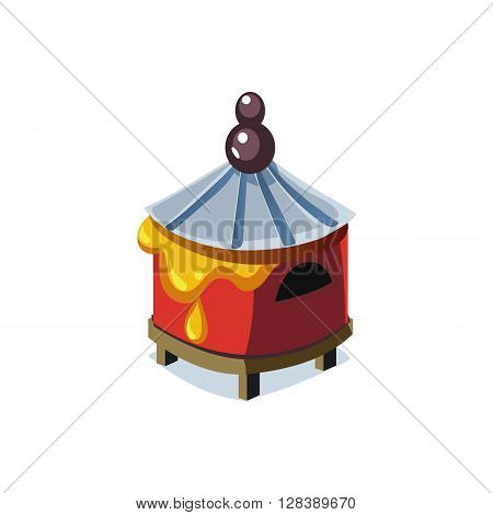 Beehive Simplified Cute Illustration In Childish Colorful Flat Vector Design Isolated On White Background