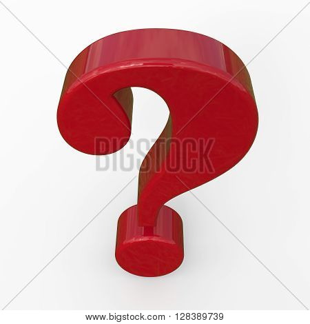 Red question mark. Isolated on white background