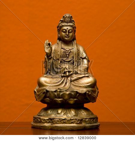 Hindu statue of Kuan Eim, Goddess of mercy and compassion.