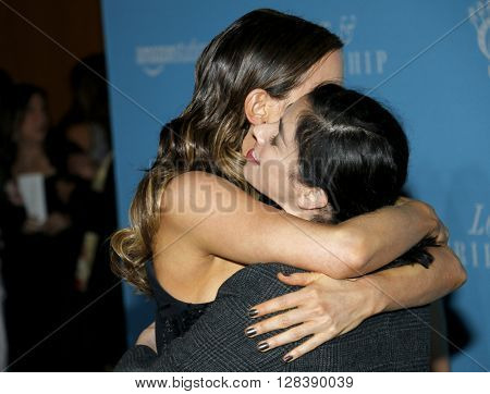 Sarah Silverman and Kate Beckinsale at the Los Angeles premiere of 'Love And Friendship' held at the DGA Theater in Hollywood, USA on May 3, 2016.
