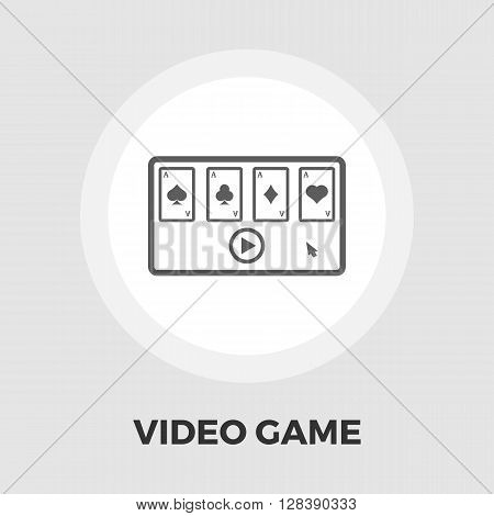 Video game icon vector. Flat icon isolated on the white background. Editable EPS file. Vector illustration.