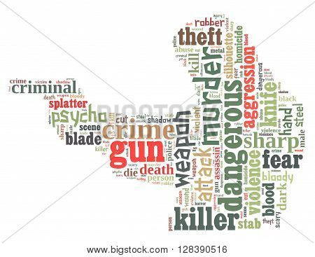 Gun Murder, Word Cloud Concept
