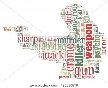 Gun Murder, Word Cloud Concept 3